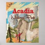 Acadia national park Vintage Travel Poster