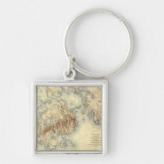 Acadia National ParkTopographic Panoramic Map Keychain