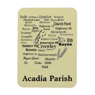 Acadia Parish Louisiana Cities & Places Magnet