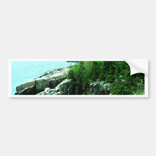 Acadia Park Shoreline peace and calm Bumper Sticker