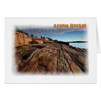 Acadia Rocks! Card