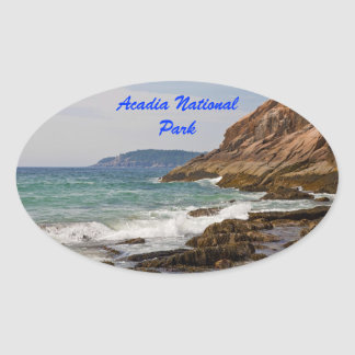 Acadia Shore Oval Sticker
