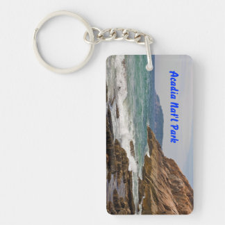 Acadia Shore Rectangle Keychain