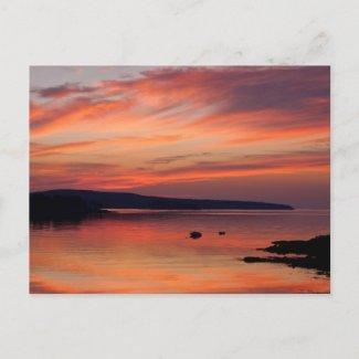 Acadia Sunrise Postcard postcard