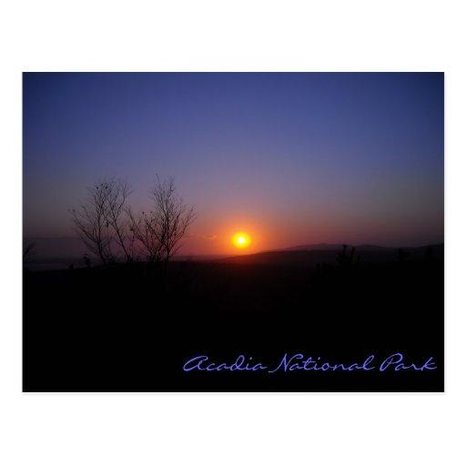 Acadia Sunset Postcard