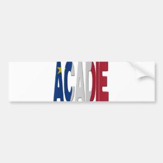 Acadian flag bumper sticker
