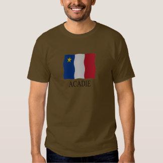 Acadian flag tee shirt