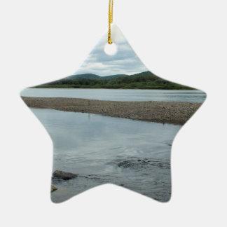 Acadian Landing Ceramic Ornament