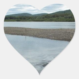 Acadian Landing Heart Sticker