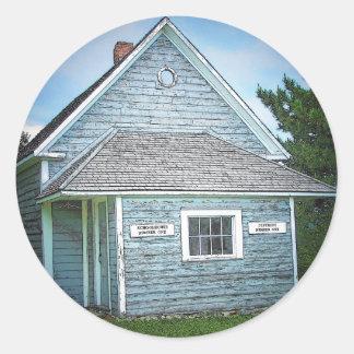 Acadian Schoolhouse Classic Round Sticker