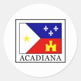 Acadiana Classic Round Sticker