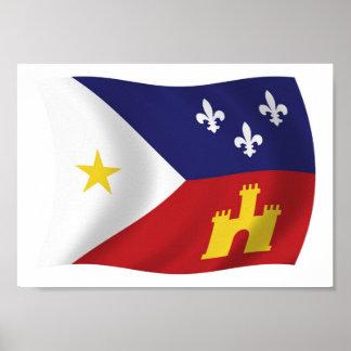 Acadiana Flag Poster Print