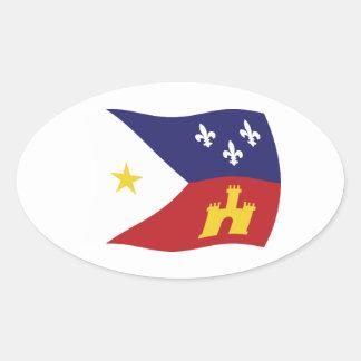 Acadiana Flag Sticker