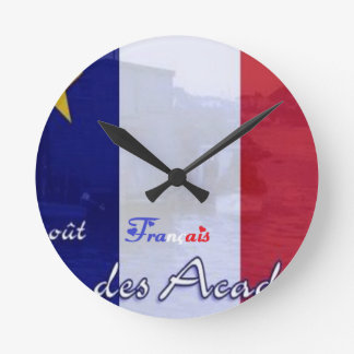 acadie August 15th .png celebrates Round Wall Clock