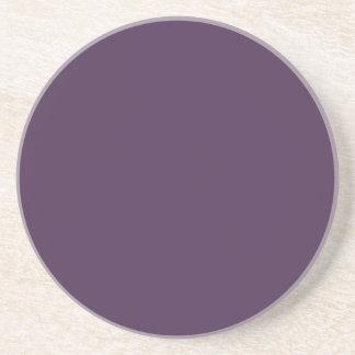 Acai Violet Solid Color - Fashion Color Trends Drink Coaster