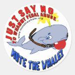 Acalle a los pegatinas de la ballena pegatina redonda