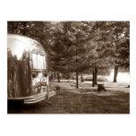 Acampada retra del remolque del viaje del vintage