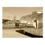Acampada retra del remolque del viaje del vintage  postales