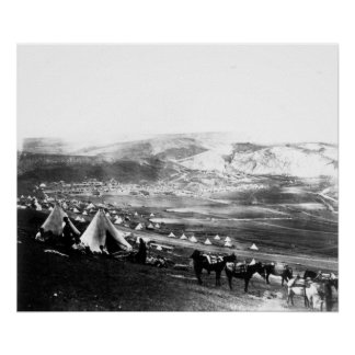 Acampamento aliado, Crimea, c.1855 Póster