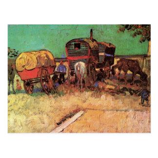 Acampamento de gitanos con las caravanas de Van Go Tarjetas Postales