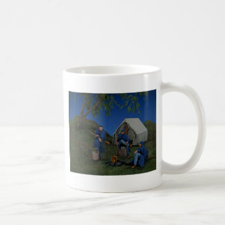 Acampamento de los soldados de la unión taza de café