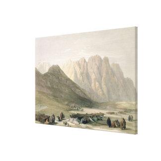 Acampamento del Aulad-Dicho, monte Sinaí, Februar Impresion En Lona