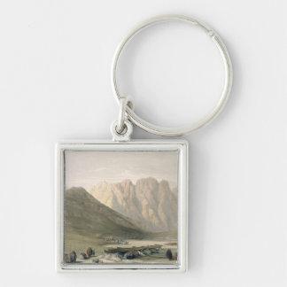 Acampamento del Aulad-Dicho, monte Sinaí, Februar Llavero Cuadrado Plateado