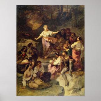 Acampamento gitano, 1848 póster