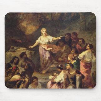 Acampamento gitano, 1848 tapete de raton