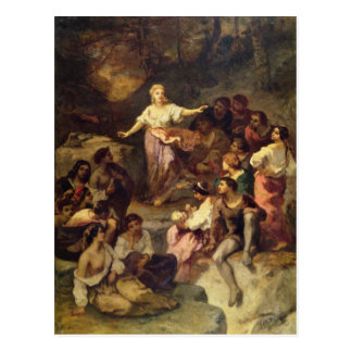 Acampamento gitano, 1848 postal