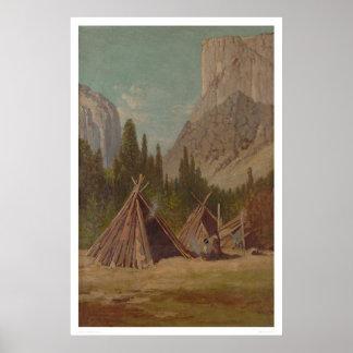 Acampamento indio en el valle de Yosemite (1189) Impresiones