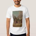Acampamento indio en el valle de Yosemite (1189) Playera