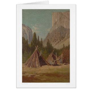 Acampamento indio en el valle de Yosemite (1189) Felicitaciones