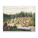 Acampamento indio en la isla de Quadra Impresión En Lona