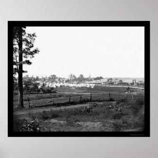 Acampamento militar cerca de Culpeper, VA 1863 Póster