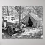 Acampando en el Yakima Valley, 1936 Póster