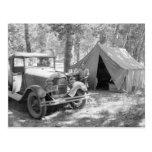 Acampando en el Yakima Valley, 1936 Tarjeta Postal