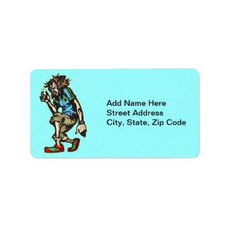 Acanalar danza móvil etiqueta de dirección