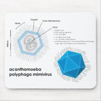 Acanthamoeba polyphaga mimivirus APMV Diagram Mousepads