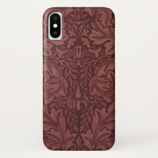 Acanthus by William Morris, Vintage Floral Textile iPhone X Case