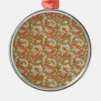 Acanthus de William Morris Adorno Navideño Redondo De Metal