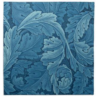Acanthus de William Morris en azul Servilletas