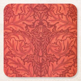 Acanthus de William Morris para el diseño de la Posavasos Personalizable Cuadrado