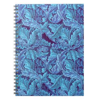 Acanthus del azul de Nouveau del arte Libretas