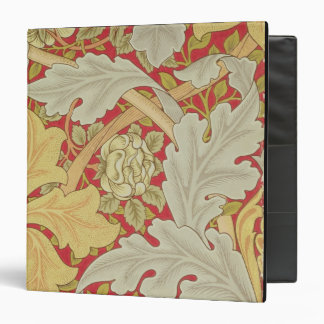 Acanthus leaves and wild rose on a crimson backgro binders