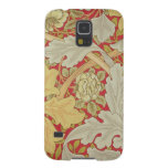 Acanthus leaves and wild rose on a crimson backgro galaxy s5 case