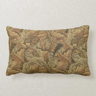 Acanthus Leaves by William Morris, Antique Textile Lumbar Pillow