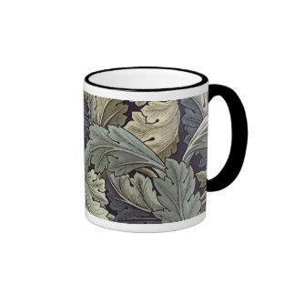 Acanthus Leaves Ringer Coffee Mug