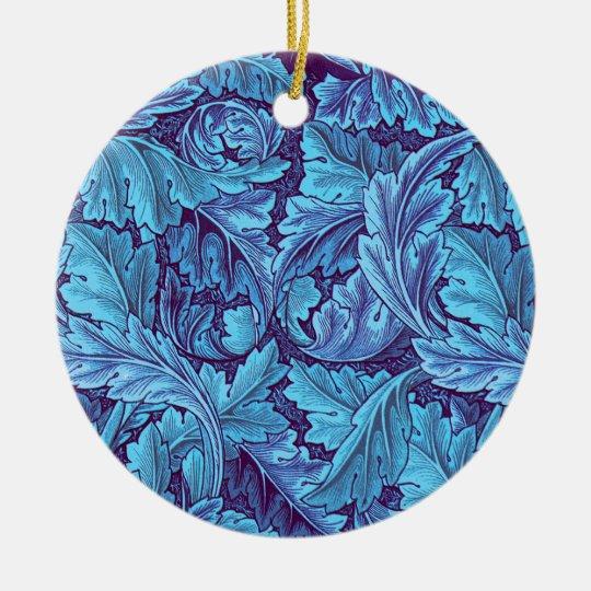 """""""Acanthus True Blue"""" Ceramic Ornament"""