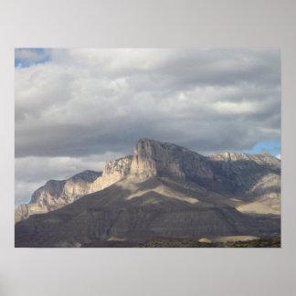 Acantilado del EL Capitan en Tejas Póster